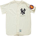 Autographs:Others, 1990's Mickey Mantle Signed Jersey....