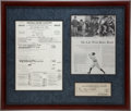 Autographs:Checks, 1941 Babe Ruth Signed Check to His Wife Claire....