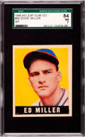 Baseball Cards:Singles (1940-1949), 1948 Leaf Ed Miller #68 SGC 84 NM 7....