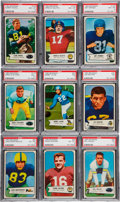 Football Cards:Lots, 1954 Bowman Football Collection (161) ...