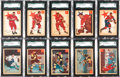 "Hockey Cards:Sets, 1954-55 Parkhurst Hockey Complete Set (100) - With Almost 20 ""Lucky Premium"" Backs. ..."