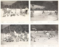 Hockey Cards:Lots, 1951 Quaker Oats Action Series A Premiums Complete Set (4). ...