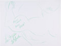 Movie/TV Memorabilia:Autographs and Signed Items, Lou Ferrigno: Actor's Doodle for Hunger Benefiting St.Francis Food Pantries and Shelters. ...