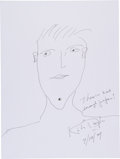 Movie/TV Memorabilia:Autographs and Signed Items, Kirk Douglas: Actor's Doodle for Hunger Benefiting St. Francis Food Pantries and Shelters. ...