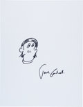 Movie/TV Memorabilia:Autographs and Signed Items, Jane Goodall: Anthropologist's Doodle for Hunger BenefitingSt. Francis Food Pantries and Shelters. ...