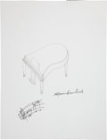 Movie/TV Memorabilia:Autographs and Signed Items, Marvin Hamlisch: Composer's Doodle for Hunger Benefiting St. Francis Food Pantries and Shelters. ...