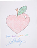 Movie/TV Memorabilia:Autographs and Signed Items, Carson Kressley: Fashion Designer's Doodle for Hunger Benefiting St. Francis Food Pantries and Shelters . ...