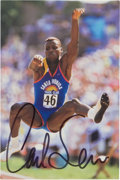 Movie/TV Memorabilia:Autographs and Signed Items, Carl Lewis: Olympic Track and Field Star's Doodle for Hunger Benefiting St. Francis Food Pantries and Shelters ...