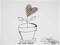 Movie/TV Memorabilia:Autographs and Signed Items, Lorna Luft: Actor's Doodle for Hunger Benefiting St. FrancisFood Pantries and Shelters . ...