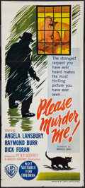 "Movie Posters:Crime, Please Murder Me (Warner Brothers, 1956). Australian Daybills (3)(13"" X 29"" & 13"" X 30""). Crime.. ... (Total: 3 Items)"