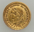 Colombia, Colombia: Gold Medellin 1872 Peso Pair,... (Total: 2 coins)