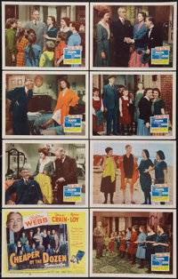 """Cheaper by the Dozen (20th Century Fox, 1950). Lobby Card Set of 8 (11"""" X 14""""). Comedy. ... (Total: 8 Items)"""