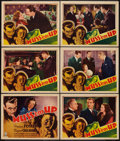"""Movie Posters:Mystery, Muss 'em Up (RKO, 1936). Title Lobby Card and Lobby Cards (5) (11"""" X 14""""). Mystery.. ... (Total: 6 Items)"""