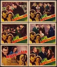 "Muss 'em Up (RKO, 1936). Title Lobby Card & Lobby Cards (11"" X 14""). Mystery. ... (Total: 6 Items)"