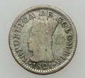 Colombia, Colombia: Cundinamarca 1/2 Real 1821 Variety Pair,... (Total: 2coins)