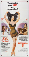 "Movie Posters:Drama, Cat on a Hot Tin Roof/Butterfield 8 Combo (MGM, R-1966). ThreeSheet (41"" X 81""). Drama.. ..."