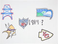 Movie/TV Memorabilia:Autographs and Signed Items, Warren Moon: NFL Player's Doodle for Hunger Benefiting St.Francis Food Pantries and Shelters . ...