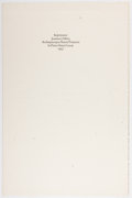 Autographs:Authors, [William Everson, printer]. Joannes J. Mitty. SIGNED ALS.Imprimatur / Liber Primus. [N.p.: n.p.], 1957. Two folded...