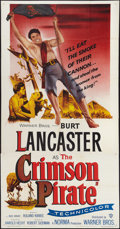 "Movie Posters:Adventure, The Crimson Pirate (Warner Brothers, 1952). Three Sheet (41"" X81""). Adventure.. ..."