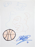 Movie/TV Memorabilia:Autographs and Signed Items, Dirk Nowitzki: NBA Player's Doodle for Hunger Benefiting St.Francis Food Pantries and Shelters . ...
