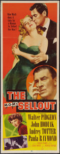 """Movie Posters:Crime, The Sellout (MGM, 1952). Insert (14"""" X 36""""). Crime.. ..."""