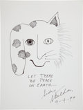 Movie/TV Memorabilia:Autographs and Signed Items, Sidney Sheldon: Author's Doodle for Hunger Benefiting St. Francis Food Pantries and Shelters . ...