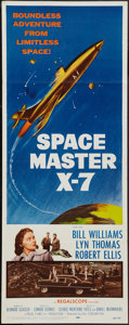 "Movie Posters:Science Fiction, Space Master X-7 (20th Century Fox, 1958). Insert (14"" X 36"").Science Fiction.. ..."
