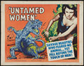 """Movie Posters:Science Fiction, Untamed Women (United Artists, 1952). Half Sheet (22"""" X 28"""") StyleA. Science Fiction.. ..."""