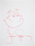 Movie/TV Memorabilia:Autographs and Signed Items, John Stamos: Actor's Doodle for Hunger Benefiting St.Francis Food Pantries and Shelters . ...
