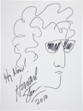 Music Memorabilia:Autographs and Signed Items, Howard Stern: Radio Host's Doodle for Hunger Benefiting St.Francis Food Pantries and Shelters . ...