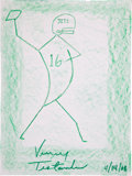 Movie/TV Memorabilia:Autographs and Signed Items, Vinny Testaverde: NFL Player's Doodle for Hunger Benefiting St. Francis Food Pantries and Shelters . ...