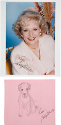 Movie/TV Memorabilia:Autographs and Signed Items, Betty White: Actor's Doodle for Hunger Benefiting St.Francis Food Pantries and Shelters . ...
