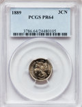 Proof Three Cent Nickels: , 1889 3CN PR64 PCGS. PCGS Population (320/695). NGC Census:(229/648). Mintage: 3,436. Numismedia Wsl. Price for problem fre...