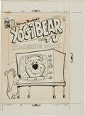 Original Comic Art:Covers, Yogi Bear on TV Coloring Book Cover Original Art(Charlton, undated)....