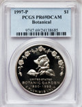 Modern Issues: , 1997-P $1 Botanic Gardens Silver Dollar PR69 Deep Cameo PCGS. PCGSPopulation (1288/48). NGC Census: (1283/48). Mintage: 18...