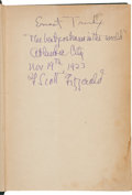 Books:Signed Editions, F. Scott Fitzgerald Signed Copy of The Vegetable with fouradditional books.... (Total: 5 Items)