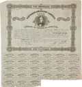 Miscellaneous:Ephemera, [Civil War]. Confederate States of America $1000 Bond....