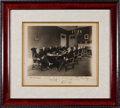 Autographs:U.S. Presidents, Warren G. Harding Photograph Signed with His Cabinet....