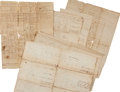 Miscellaneous:Ephemera, [Revolutionary War]. Archive of Muster Rolls and Pay Rolls for theFirst Canadian Regiment under the Command of Colonel James ...