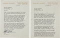 Autographs:Authors, Harlan Ellison: Two Typed Letters Signed....
