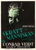 "Movie Posters:Horror, The Man Who Laughs (Universal, 1928). Swedish One Sheet (28"" X 39.5"").. ..."