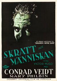 "The Man Who Laughs (Universal, 1928). Swedish One Sheet (28"" X 39.5"")"