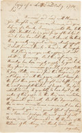Miscellaneous:Ephemera, [Continental Currency]. Period Fair Copy of a Benjamin FranklinLetter to Thomas Ruston....