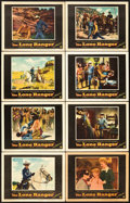 "Movie Posters:Western, The Lone Ranger (Warner Brothers, 1956). Lobby Card Set of 8 (11"" X 14"").. ... (Total: 8 Items)"