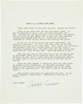 """Autographs:Authors, Isaac Asimov (1920-1992, American Author). Signed Excerpt from""""Does a Bee Care.""""..."""