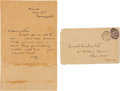 "Autographs:Artists, Aubrey Beardsley Autograph Letter Signed ""AB.""..."
