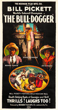"Movie Posters:Western, The Bull-Dogger (Norman, 1921). Three Sheet (41"" X 81"").. ..."