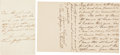 Autographs:Authors, Frances Hodgson Burnett: Two Autograph Letters Signed....