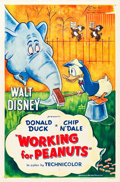 "Movie Posters:Animation, Working for Peanuts (RKO, 1953). One Sheet (27"" X 41"") with 3-D Snipe.. ... (Total: 2 Items)"