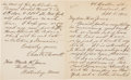 """Autographs:Authors, Charles W. Chesnutt Autograph Letter Signed """"Chas. W. Chesnutt.""""..."""